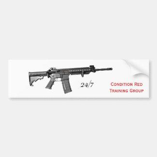Carbine, 24/7, Condition RedTraining Group Car Bumper Sticker