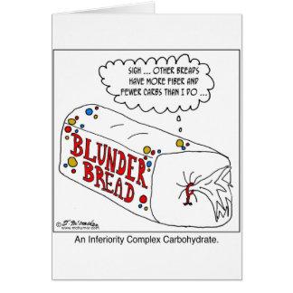Carbohidrato del complejo de inferioridad tarjeta de felicitación