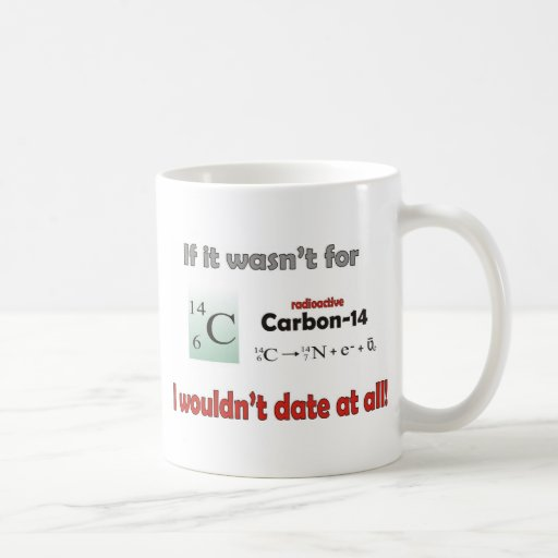 Carbon 14 Dating Coffee Mug