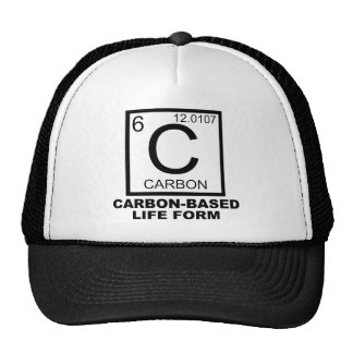 Carbon Based Life Form Funny Ball Cap Hat