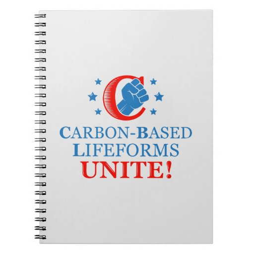 Carbon-based Lifeforms, Unite! Spiral Note Book