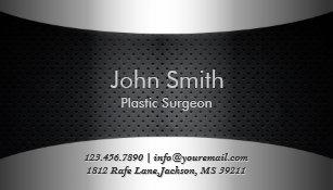 Plastic business cards zazzle carbon black plastic surgeon business card colourmoves