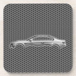 Carbon Car 3D Fashion Accessory Cool Design Beverage Coaster