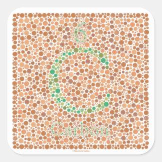 Carbon Color Blind Test Sticker