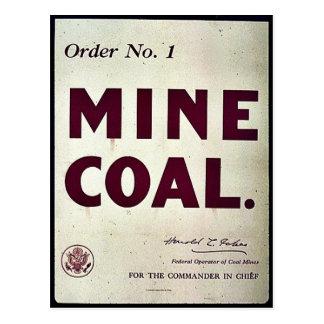 Carbón de la mina tarjetas postales