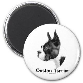 Carbón de leña 2 de Boston Terrier - imán