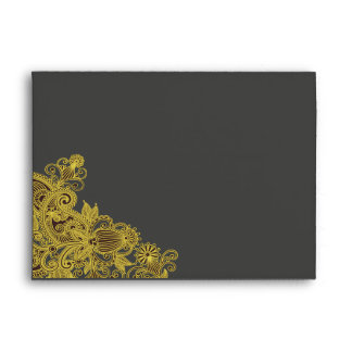 Carbón de leña amarillo azteca A7 de Paisley Sobre