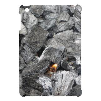 Carbón de leña ardiente que fuma