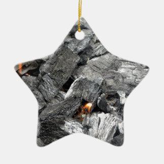 Carbón de leña ardiente que fuma adorno de cerámica en forma de estrella