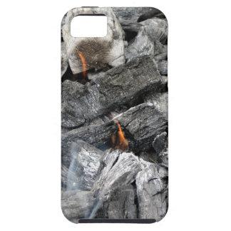 Carbón de leña ardiente que fuma funda para iPhone 5 tough