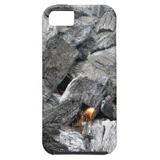 Carbón de leña ardiente que fuma iPhone 5 funda