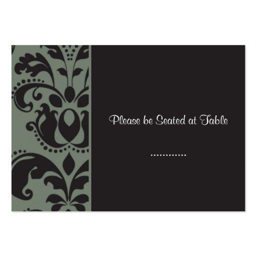 carbón de leña del damasco; asiento de la tabla de plantilla de tarjeta personal