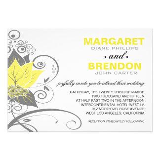 Carbón de leña el | amarillo floral abstracto de A Anuncios Personalizados