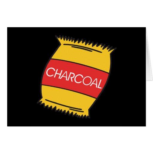Carbón de leña felicitaciones