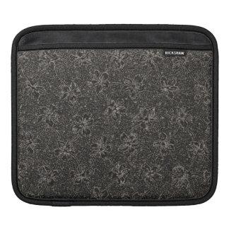 Carbón de leña floral del vintage descarado con cl manga de iPad
