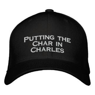 Carbón de leña gorras de béisbol bordadas