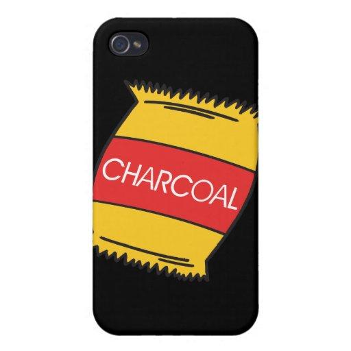 Carbón de leña iPhone 4 fundas