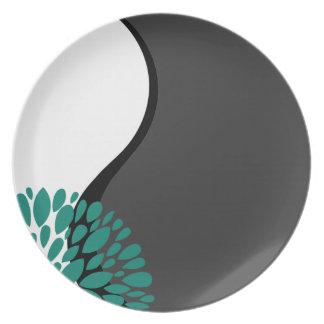 Carbón de leña moderno fresco Yin blanco Yang del Platos De Comidas