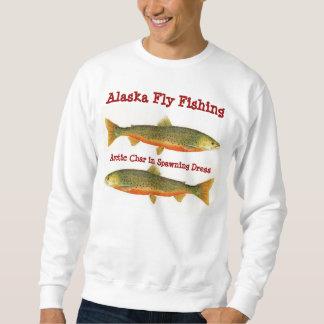 Carbón de leña Pesca-Ártico de la mosca de Alaska Pulovers Sudaderas