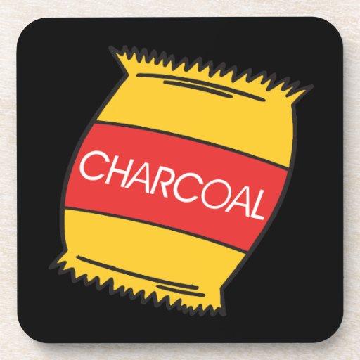 Carbón de leña posavaso