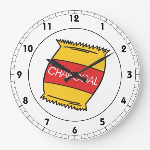 Carbón de leña relojes
