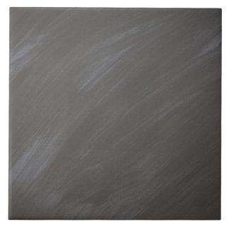 Carbón de leña retro del fondo de la pizarra de la azulejo cuadrado grande