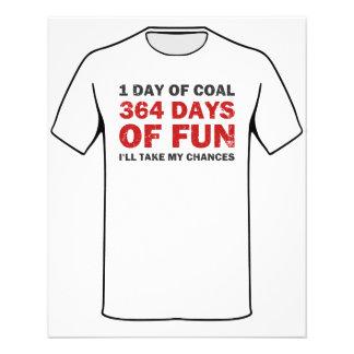 """Carbón del navidad CONTRA 364 días de diversión Folleto 4.5"""" X 5.6"""""""