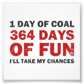 Carbón del navidad CONTRA 364 días de diversión Arte Fotográfico