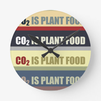 Carbon Dioxide Is Plant Food Round Clocks