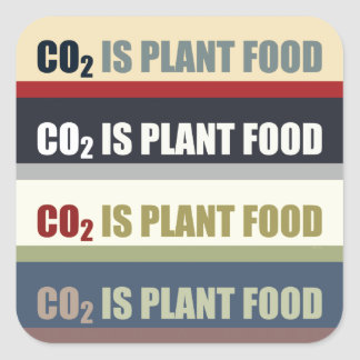 Carbon Dioxide Is Plant Food Square Sticker