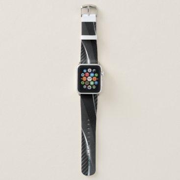 Beach Themed Carbon Fiber 3 Apple Watch Band