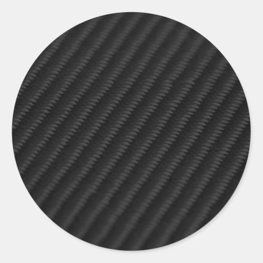 Carbon Fiber Accented Classic Round Sticker