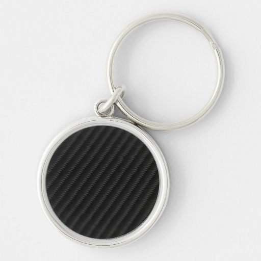 Carbon Fiber Accented Keychains