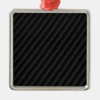 Carbon Fiber Accented Metal Ornament