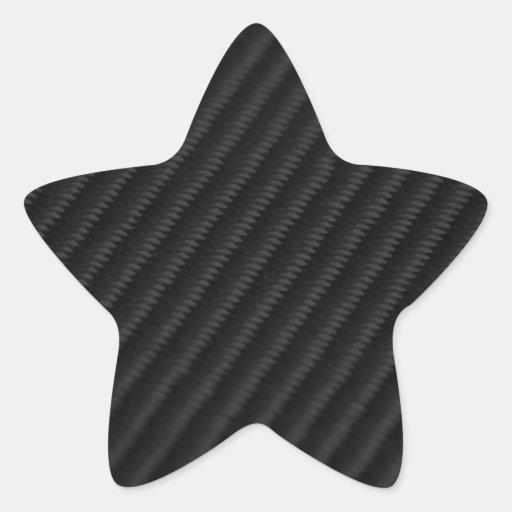 Carbon Fiber Accented Star Sticker