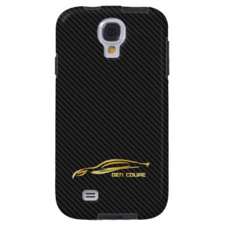 Carbon Fiber and Gold Hyundai Genesis Coupe Galaxy S4 Case