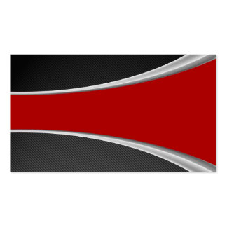 Carbon Fiber and red Business Card Template