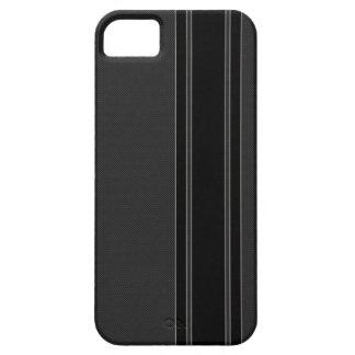 Carbon Fiber & Black Stripes iPhone 5 Case