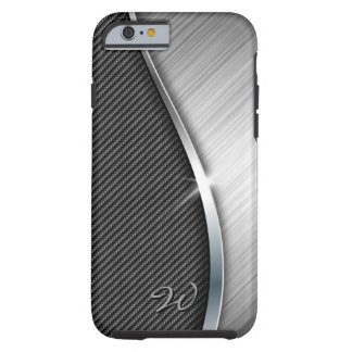 Carbon Fiber Brushed Metal 4 Case iPhone 6 Case