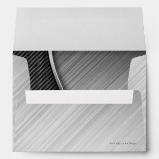 Carbon Fiber & Brushed Metal 4 Envelopes