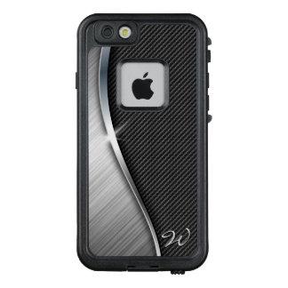 Carbon Fiber & Brushed Metal 4 LifeProof FRĒ iPhone 6/6s Case