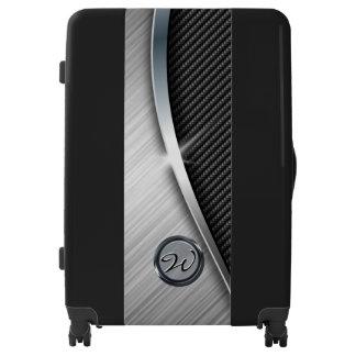 Carbon Fiber & Brushed Metal 4 Luggage