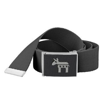 Beach Themed Carbon Fiber Donkey Democratic Party Symbol Belt