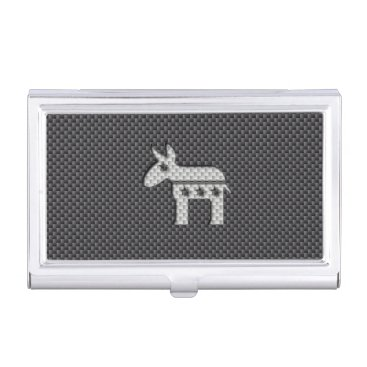 Beach Themed Carbon Fiber Donkey Democratic Party Symbol Case For Business Cards