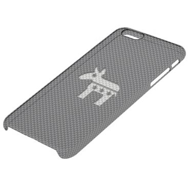 Beach Themed Carbon Fiber Donkey Democratic Party Symbol Clear iPhone 6 Plus Case