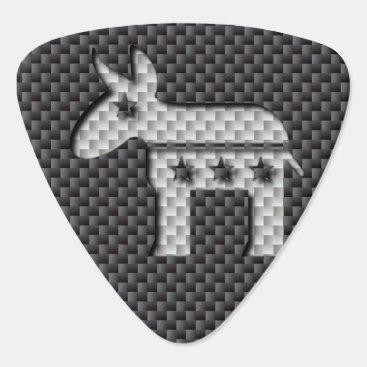 Beach Themed Carbon Fiber Donkey Democratic Party Symbol Guitar Pick