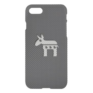 Beach Themed Carbon Fiber Donkey Democratic Party Symbol iPhone 7 Case