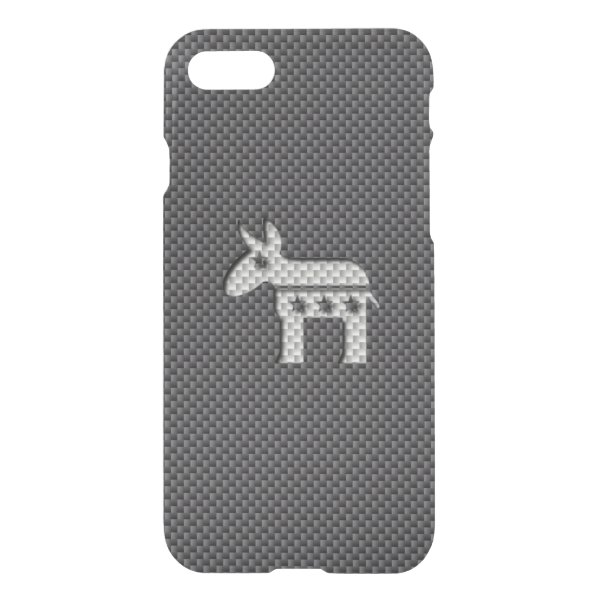 Carbon Fiber Donkey Democratic Party Symbol iPhone 7 Case