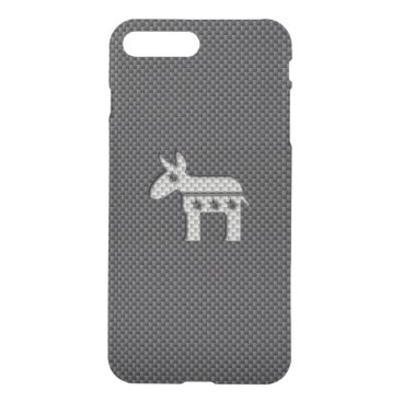 Beach Themed Carbon Fiber Donkey Democratic Party Symbol iPhone 7 Plus Case