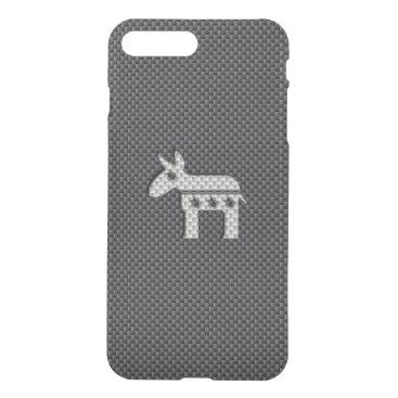 McTiffany Tiffany Aqua Carbon Fiber Donkey Democratic Party Symbol iPhone 8 Plus/7 Plus Case